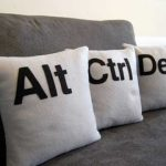 CTRL-ALT-DEL pillow for a geek to rest