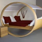 The soothing circular rocking bed