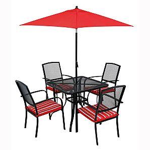 Bargain garden parasol and patio set