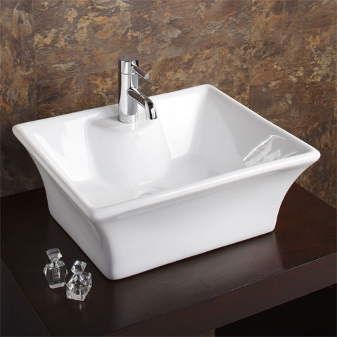Bali square counter top basin