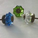 Pumpkin glass door knobs