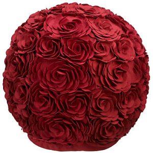 Claret rose pouffe