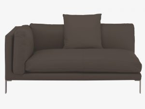 Contemporary leather modular sofa