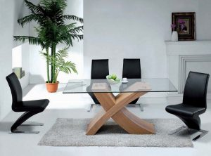Contemporary X dining set