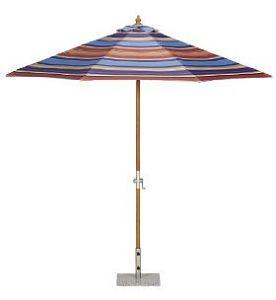 Modern and contemporary garden parasols