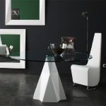Modern diamond dining table