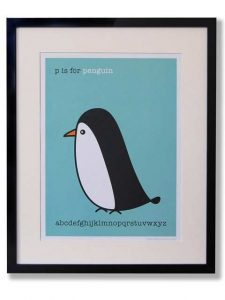Cute penguin print