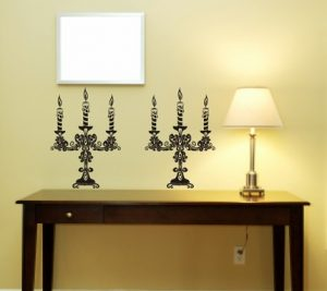 Candle wall stickers from Dabble Down on Etsy