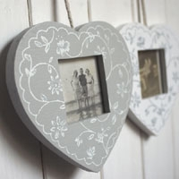 Decorative hanging heart frame