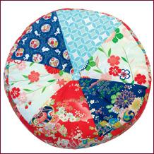 Kimono patchwork floor cushion