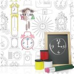 Tick Tock colour your own wallpaper
