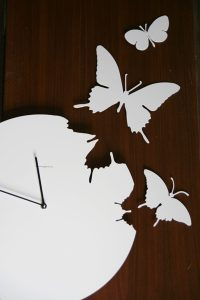 Trendy butterfly clock
