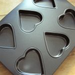 Heart shaped non-stick baking tin
