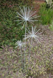Alium sculptures by Iron Vein
