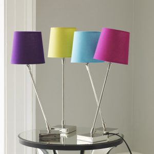 Quirky colourful lamps