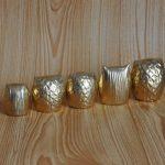 Handmade gold baby owls