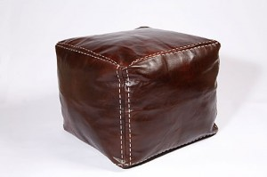Alkina leather footstool