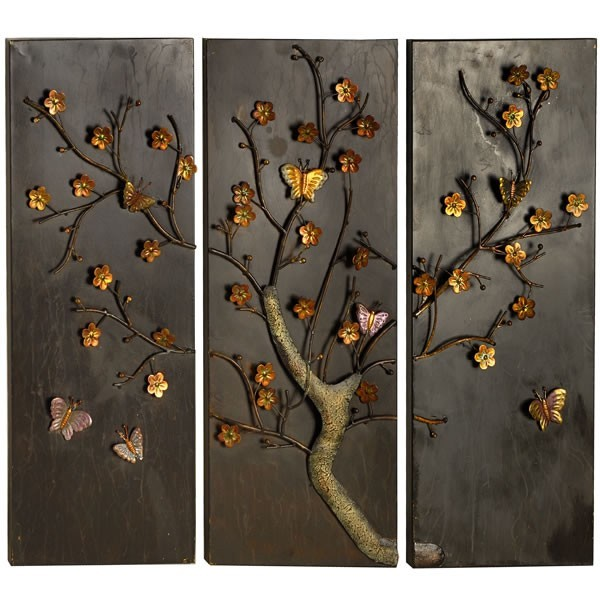 Wall Art Metal Panels : Butterfly panel metal wall art fresh design