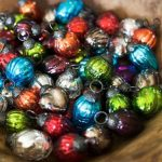 Small decorative Christmas baubles