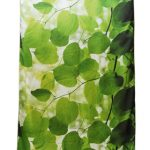 Leafy silk window panel