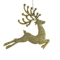 Two gold reindeer tree decorations ~ Fresh Design Blog