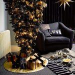 John Lewis reversible upside down black Christmas tree