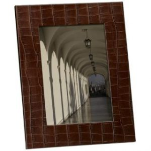 Medium brown leather frame