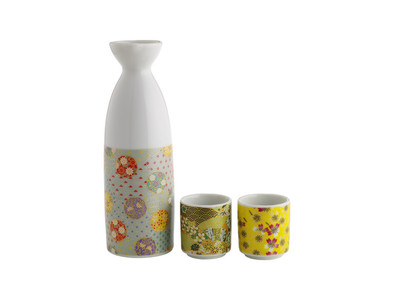Three piece sake set