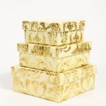 Square gold storage box set