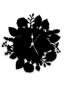 bouquet-clock-black