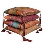 Antique sari chair pad cushions from Myakka
