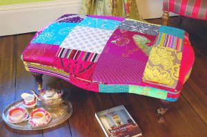 Vibrant footstool