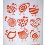 Designer chick dish cloth from Hunkydory Home