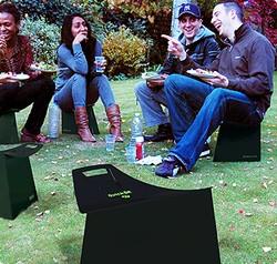 Fold-up garden seat