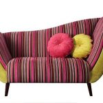 Stripy contemporary chaise longue