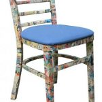 Reclaimed comic decoupage chairs