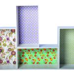 Decorative rectangular bookshelf boxes