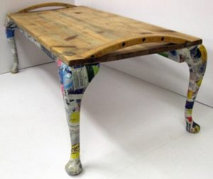 Funky recycled table