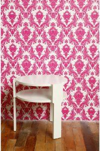 pink-damask-temporary-wallpaper