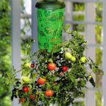Topsy turvy upside down hanging tomato planter