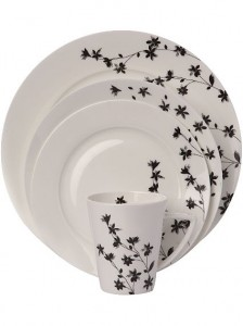 Monochrome crockery
