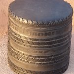 Recycled tyre eco rubber stool