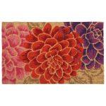 Contemporary flower print doormat