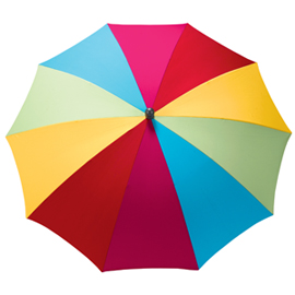Multicoloured parasol