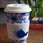 Eco re-usable ceramic coffee and tea cup