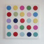 Large polka dot 3D art canvas