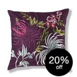 Purple Silk Road M&S cushion with 20% off