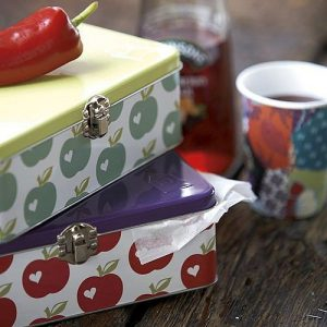 Apple design metal lunch tin by Colloco