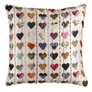 Exclusive Ella Doran silk heart cushion from John Lewis