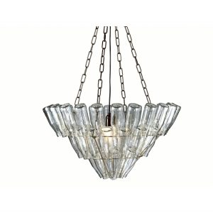 Creative designer recycled chandelier lamp